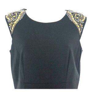 Tahari Arthur S Levine Black Sleeveless Dress